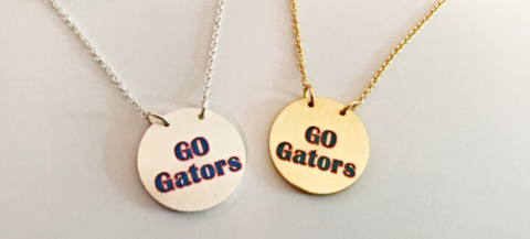 'Go,Gators',Circle,Necklace,'Go Gators' Necklace