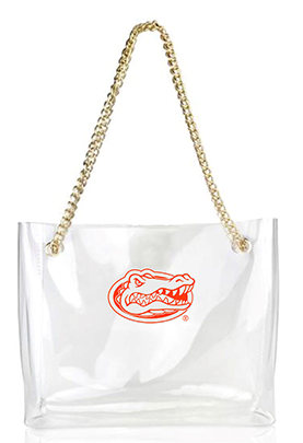 Clear Handbag with Gold Chain- Florida - product image