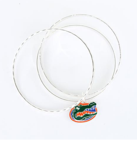 Florida,Logo,Bangle,Bracelets,Florida Logo Bangle Bracelets