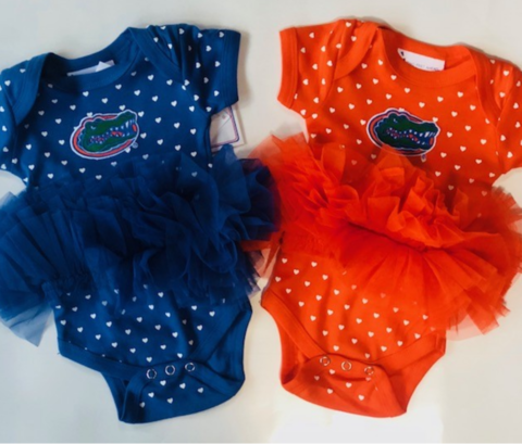 Gator,Onesie,-,Hearts,Gator Dress - Kids