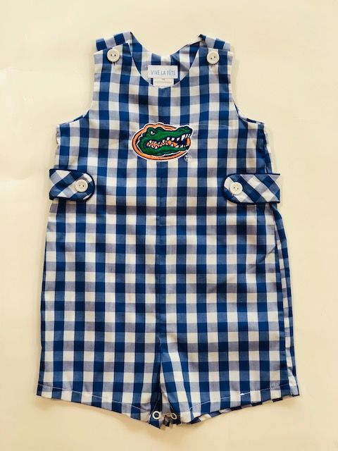 Blue Checkerboard Boys Shortall - product image