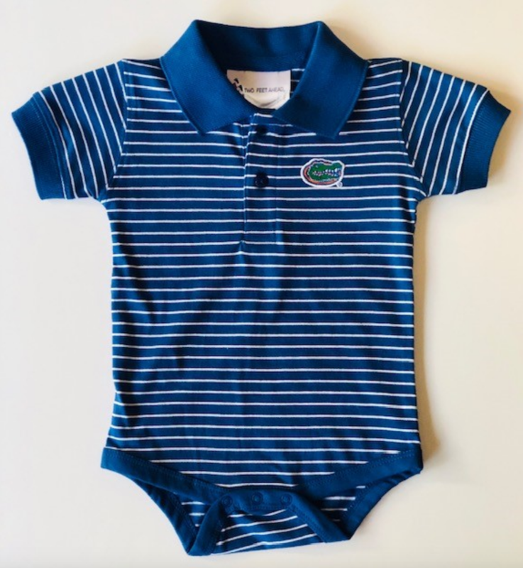 Royal/White Striped Onesie  - product image