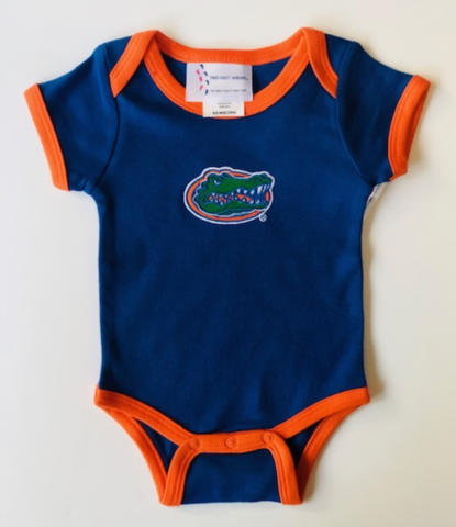 Blue,w/,Orange,Trim,Onesie,Kids Apparel