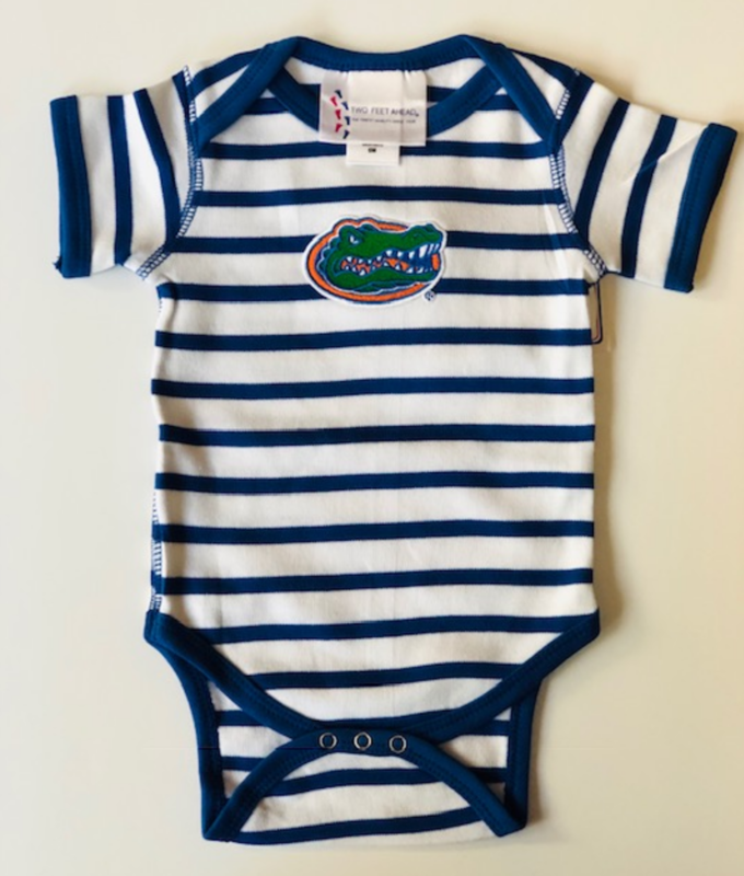 Blue/White Striped Onesie  - product image