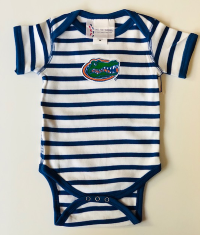 Blue/White,Striped,Onesie,Kids Apparel
