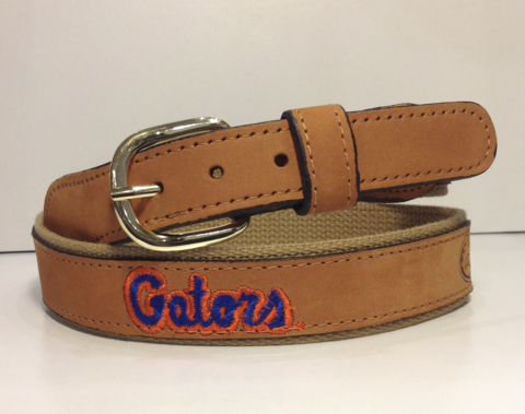 Florida,Gators,Brown,Leather,Logo,Belt,Leather Belt