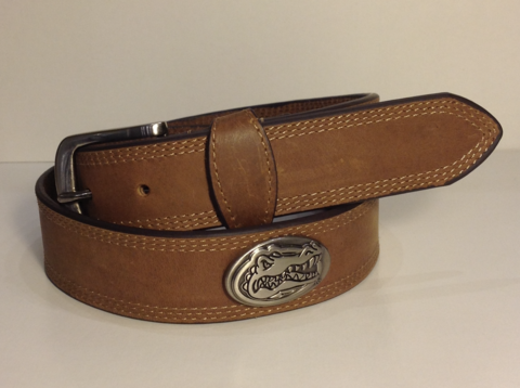 Florida,Gators,Leather,Gator,Head,Belt,Leather Belt