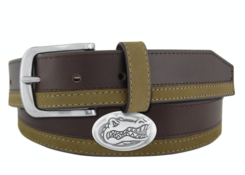 Gators,2-Tone,Leather,Belt,Leather Belt