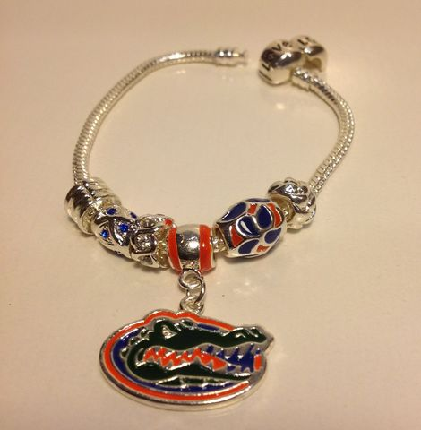 Florida,Orange,Logo,Charm,Bracelet,Florida Logo Dangle Bracelet