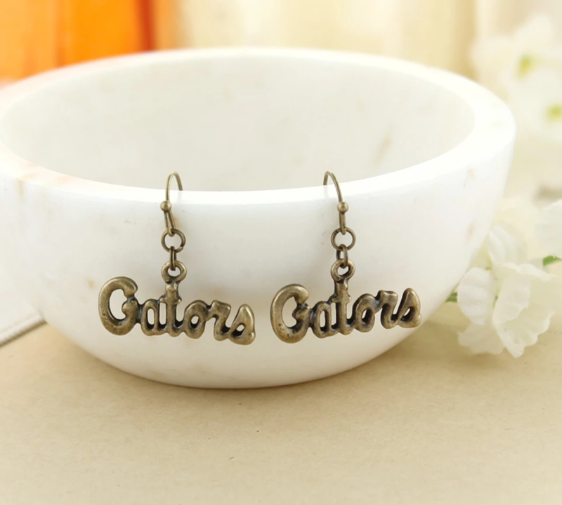 Florida Vintage Style Logo Earrings - product images  of