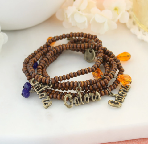 Florida,Wood,Bead,Stretch,Necklace/Bracelet,Florida Wood Bead Stretch Necklace/Bracelet