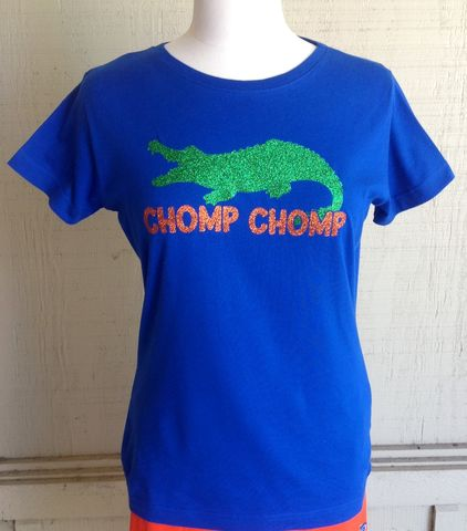 Blue,Chomp,Gator,Top,Blue Chomp Chomp Gator Top