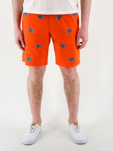 Florida,Gators,'Gatorhead',Stadium,Shorts,-,Orange,Florida Gators Stadium Shorts