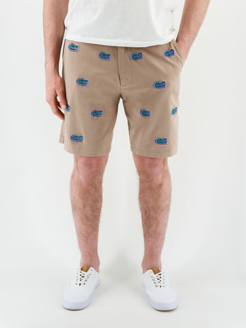 Florida,Gators,'Gatorhead',Stadium,Shorts,-,Khaki,Florida Gators Stadium Shorts
