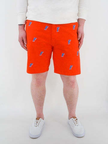 Florida,Gators,'F,Logo',Stadium,Shorts,-,Orange,Florida Gators Stadium Shorts