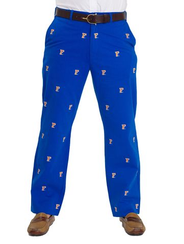 Florida,Blue,'Block,'F',Pants,Florida Blue Block 'F' Pants