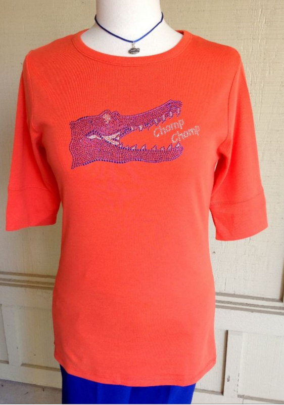 Orange Chomp Chomp Gator Top - product image