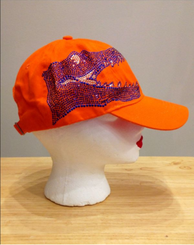 Orange,Sparkle,Gator,Cap,Orange Sparkle Gator Cap