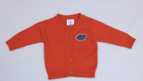 Gator,Kids,Orange,Cardigan,Orange Cardigan