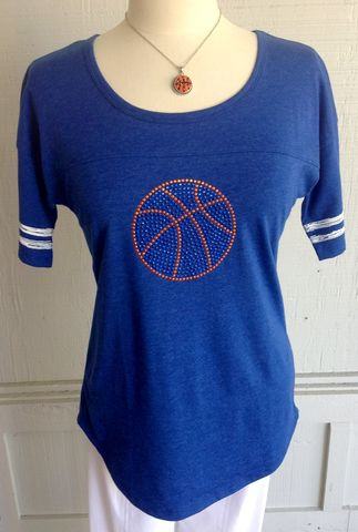 Crystal,Blue,Basketball,Shirt,Basketball Shirt