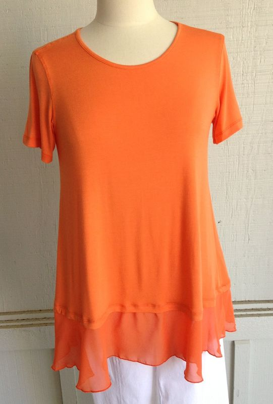 Orange Flowy Top - product image