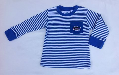 Blue,Stripe,Longsleeve,Top,Blue Stripe Longsleeve Top