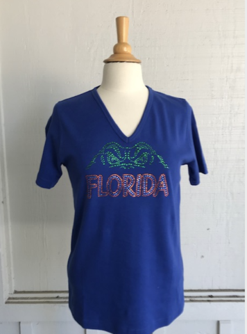 Gator,Swamp,Eyes,Short,Sleeve,Top,Gator Swamp Eyes Top