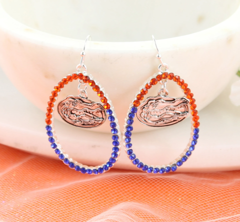 Florida,Crystal,Loop,Earrings,Florida Crystal Loop Earrings