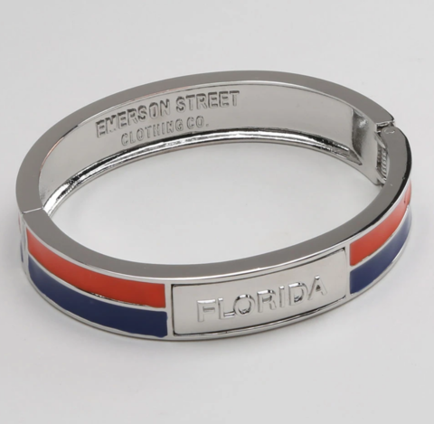 Florida,Gators,2,Tone,Bangle,Florida Gators 2 Tone Bangle