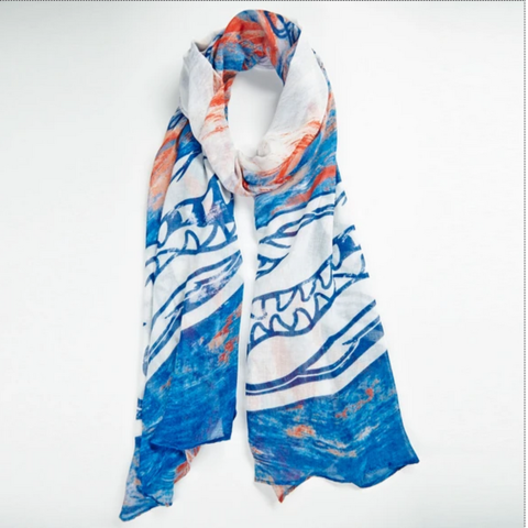 Florida,Gators,Watercolor,Scarf,Florida Gators Watercolor Scarf