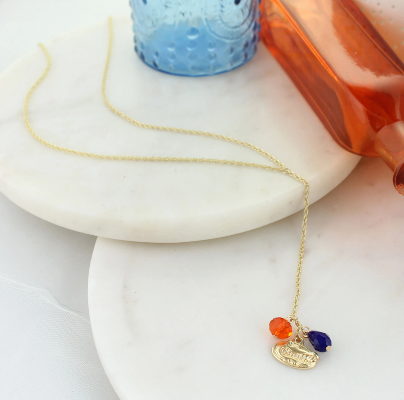 Florida Matte Gold Logo Y-Necklace - product image