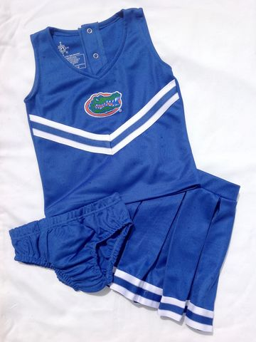 3-Piece,Blue,Cheerleader,Set