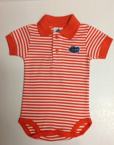 Striped,Polo,Bodysuit,Striped Polo Bodysuit
