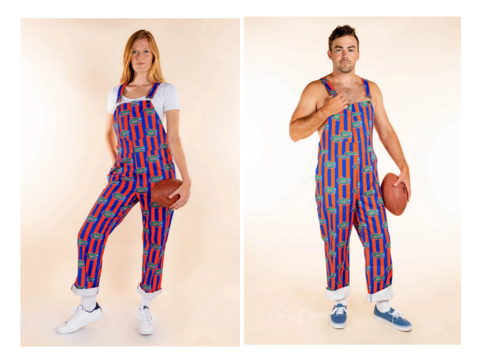 University,of,Florida,Striped,Overalls,University of Florida Striped Overalls