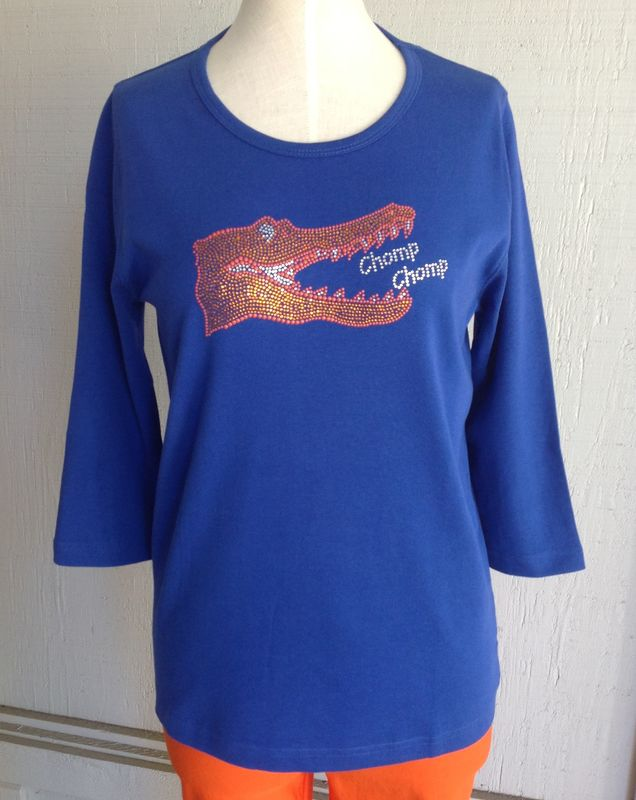 Blue Sparkle Chomp Chomp Top - product image