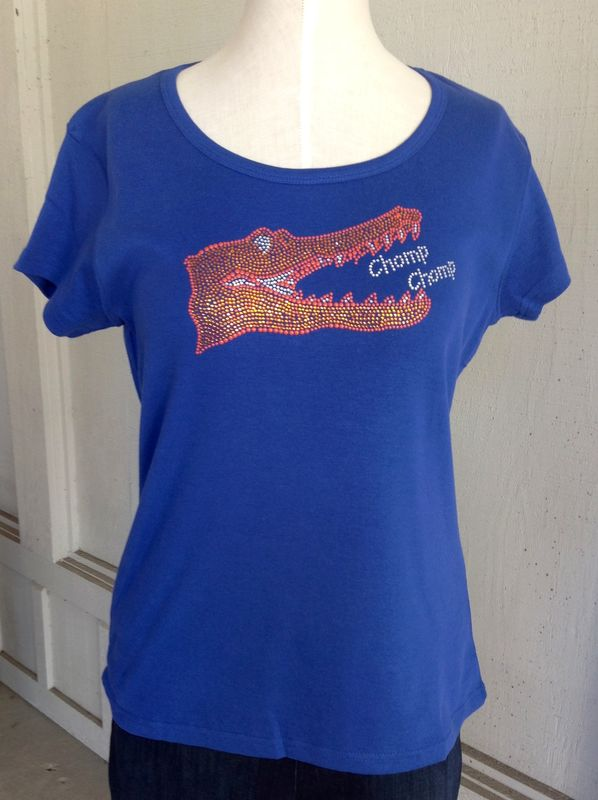 Blue Sparkle Chomp Chomp Top - Cap Sleeve - product image