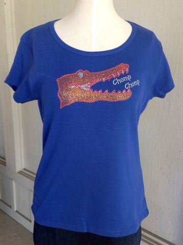 Blue,Sparkle,Chomp,Top,-,Cap,Sleeve,Blue Sparkle Chomp Chomp Top