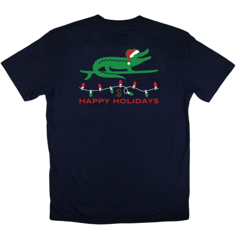 Surfing Santa Gator Tee - product images  of