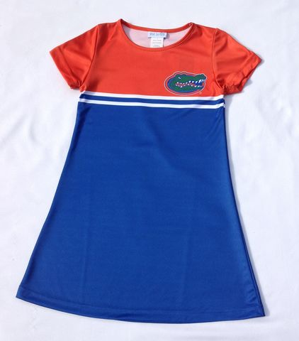 Short,Sleeve,A-line,Dress,Gators