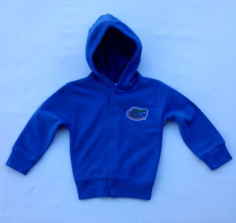 Blue,Snap,Hooded,Jacket,Blue Snap Hooded Jacket