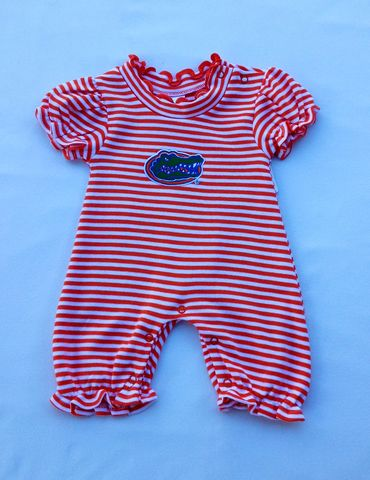 Orange,and,White,Stripe,Bubble,Romper,Orange and White Stripe Bubble Romper