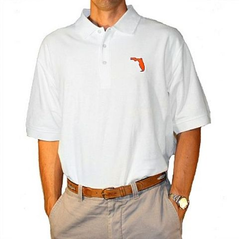 Gainesville,Gameday,Polo,White,Orange and Blue Polo, Gators Menswear