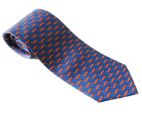 Florida,Gators,Blue,Silk,Tie