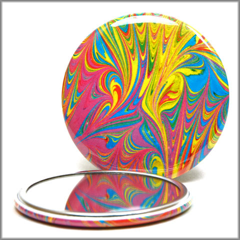 marbled,paper,pocket,mirror,no.,11,pocket_mirror,glass_mirror,marbled_paper,purse_mirror,hand_pressed_mirror
