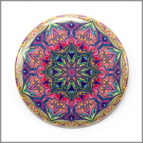 mandala,magnet,no.,1,refrigerator_magnet,office_decor,functional_art,kaleidoscope,magnet_art,marbled_art,mandala magnet