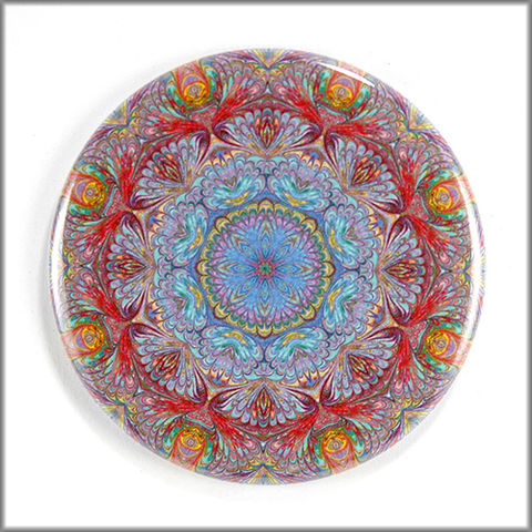 mandala,magnet,no.,3,refrigerator_magnet,office_decor,functional_art,kaleidoscope