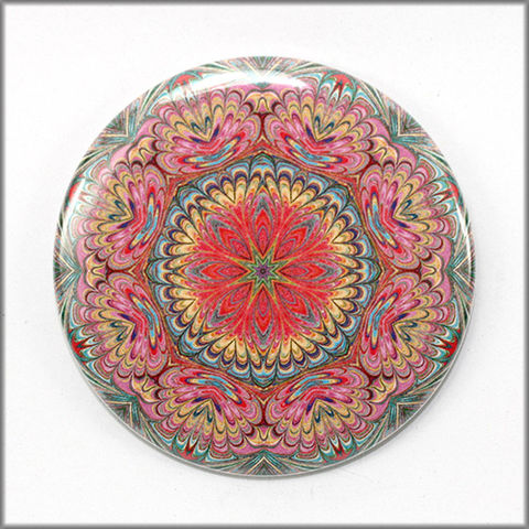 mandala,magnet,no.,7,refrigerator_magnet,office_decor,functional_art,kaleidoscope,floral