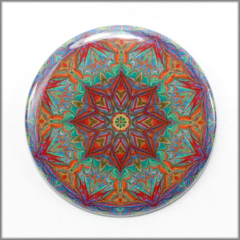 mandala,magnet,no.,9,refrigerator_magnet,office_decor,functional_art,kaleidoscope,mandala magnet