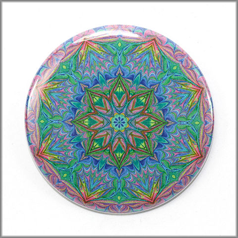 mandala,magnet,no.,11,refrigerator_magnet,office_decor,functional_art,kaleidoscope, mandala
