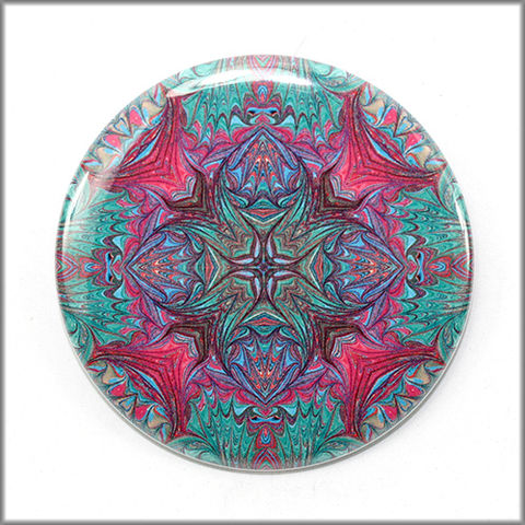 mandala,magnet,no.,12,refrigerator_magnet,office_decor,functional_art,kaleidoscope